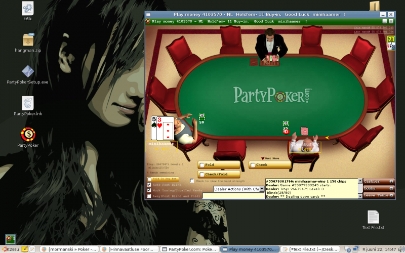 Party Poker + wine